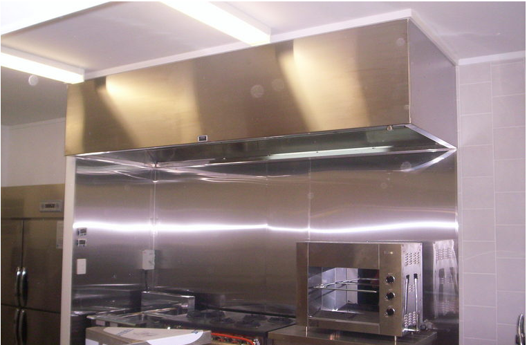 Commercial Kitchen Hood Installed